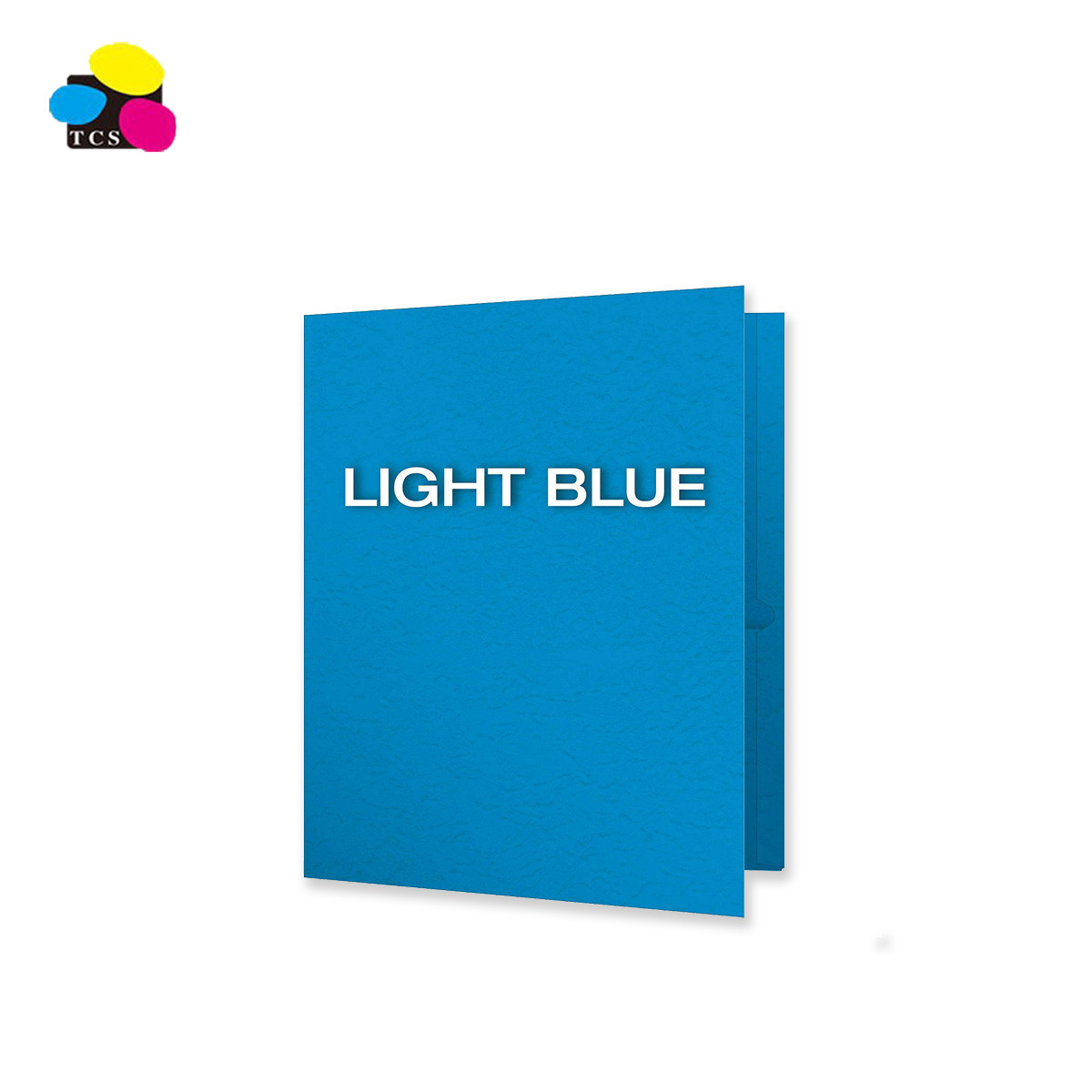 Office Supplies Letter Size Dark blue Emboss Vivid Colors Two Pockets File Folder With 3 Fasteners