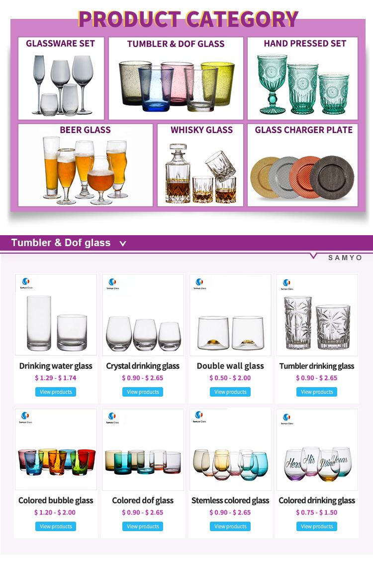 Samyo Groothandel custom stemless whisky glas wijn glas