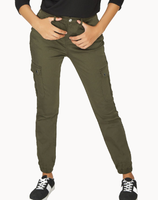 khaki women cargo pants casual trousers for ladies