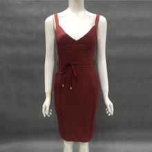 Ailigou/оптовая продажа, женское летнее сексуальное черное белое кружевное Бандажное платье на бретелях 2020, как у знаменитостей, дизайнерские ...(Китай)