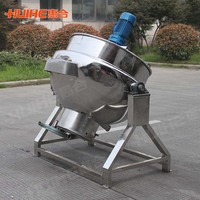 Restaurant Stainless Steel Large Capacity Industrial Gas Soup Kettle/Commercial Soup Cooker