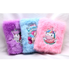 China Suppliers Eco-friendly A5 Custom Cover Shape Design Fluffy Plush Notebook