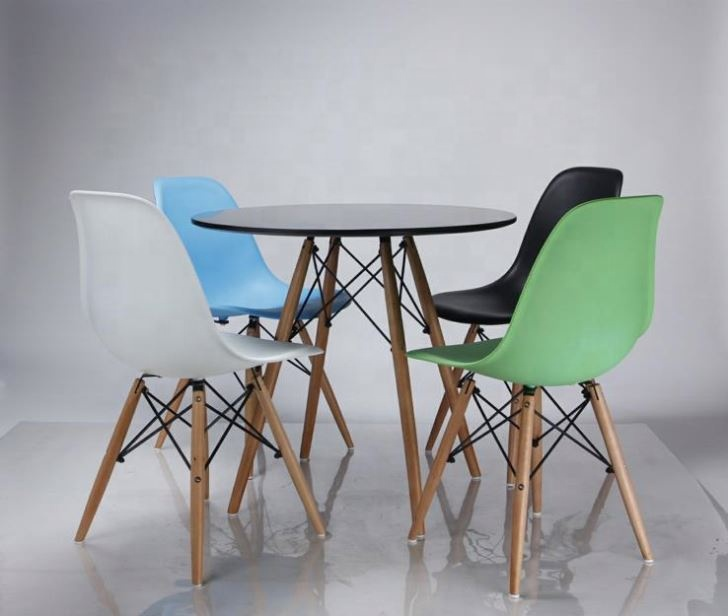 High Quality Side Coffee Table Fashionable modern MDF wooden colorful restaurant furniture dining table set
