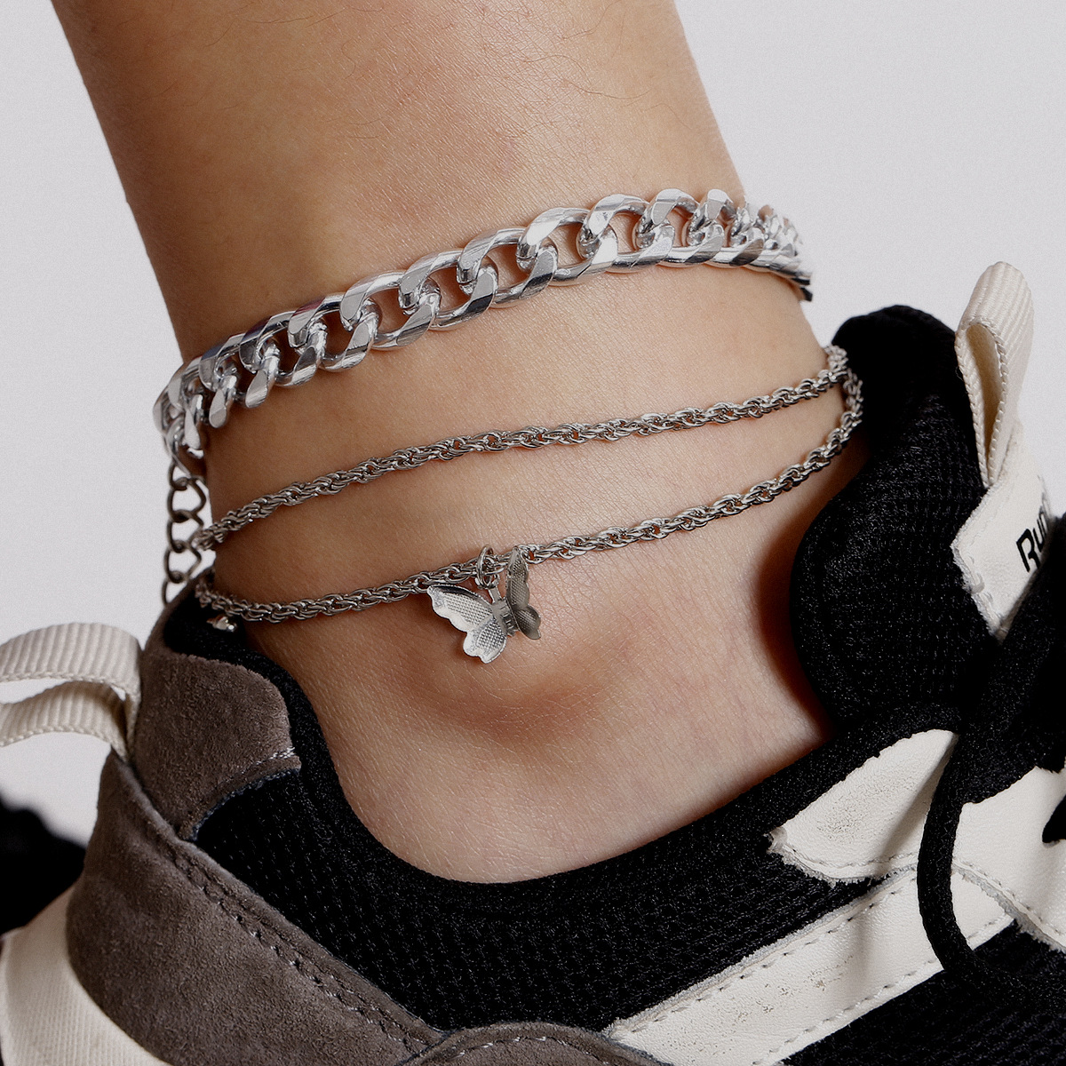 2020Fashion Jewelry Beach Butterfly Ankle Bracelets Adjustable Anklets Foot Chain Rope Ankle Bracelet For Women Girls