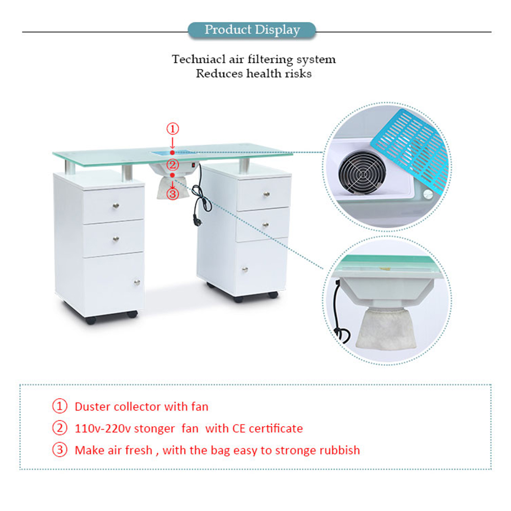 French modern cheap new hotsale professional used for nail salon nail bar white nail tables manicure tables