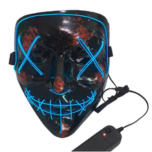 2019 Halloween Cosplay Scary Party Glow LED Wire Mask Light Up