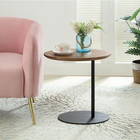 Simple modern design custom Nordic imported solid wood iron round coffee table furniture