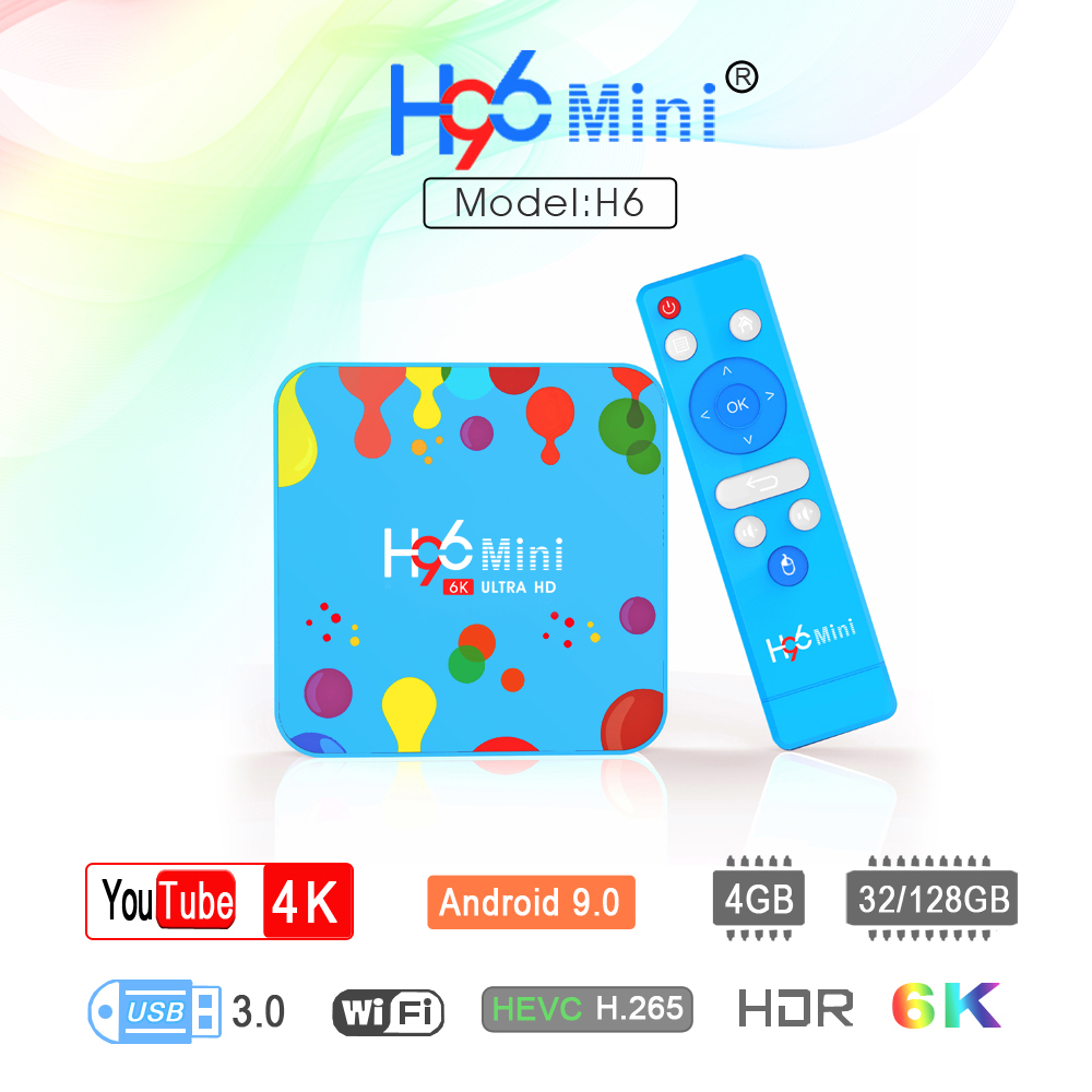 H96 MINI H6 Set top caja de 6K caja de la tv inteligente android allwinner H6 Quad Core 5G Dual wifi reproductor de medios H96mini