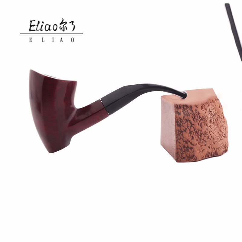 Eliao Factory Stock Portable and Cheap Pipe Smoking Tobcco Wooden New Smoking Pipe