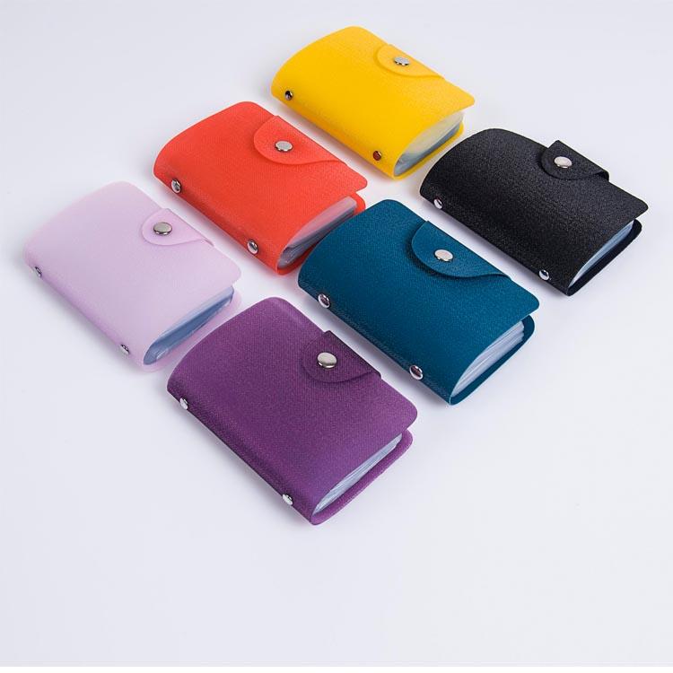 Meilleure vente à la mode doux imperméable à l'eau PU/PVC couverture personnalisé porte-cartes de visite porte-cartes personnalisé