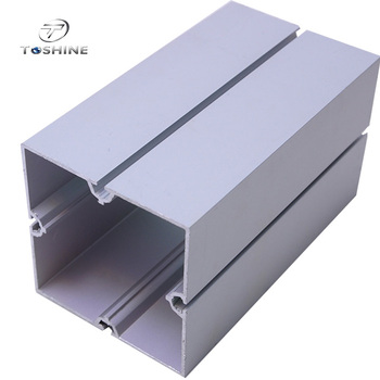 Anodized / Powder Painting Aluminum Extrusion Profile / Square Shape / CNC Deep Processing