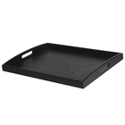 Graphic Customization Tray Black Serving Black Extra Large Wooden Food Tray Breakfast Serving Tray with Handles for Bed Ottoman Coffee Table