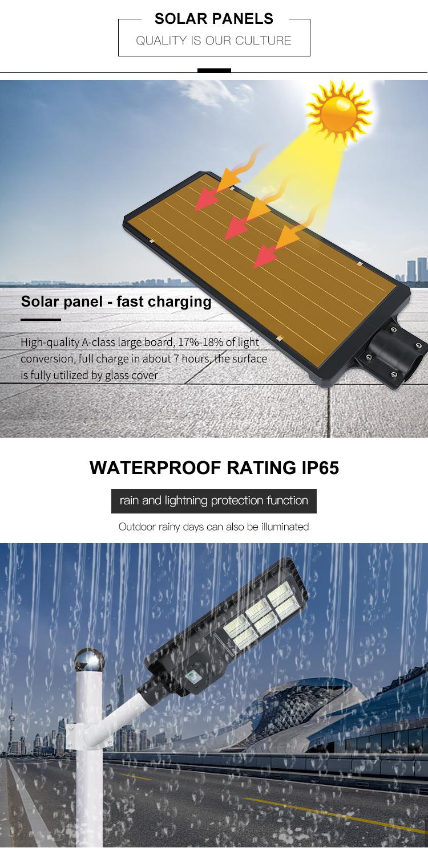 Hohe qualität ip65 wasserdicht outdoor 60w 120w 180w alle in einem integrierten LED solar straße lampe