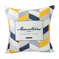 "Nordic hotel home decor couch pillow 18x18"" 45x45cm Custom pillow creative product design yellow geometric pillow cases"