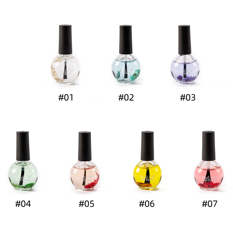 Dried Flowers Softener Nutritional Cuticle Oil Flavor Nail Art Care Tools for Protector Nails Toenails Pedicure 15ml