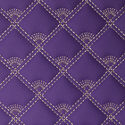Embroidery Quilted Diamond Stitching Leather for Sofa Making E056