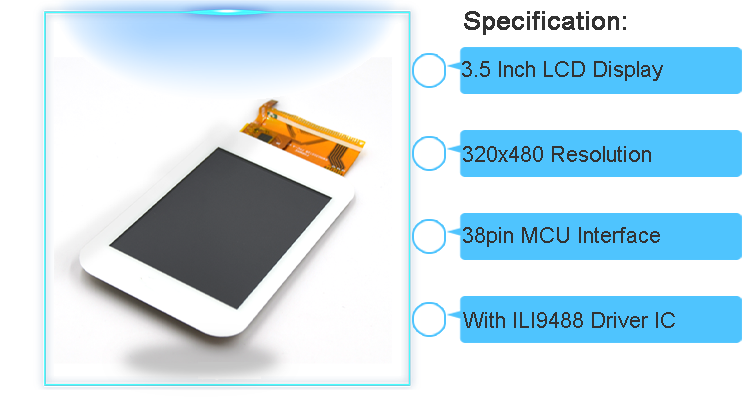 capacitive lcd 320x480