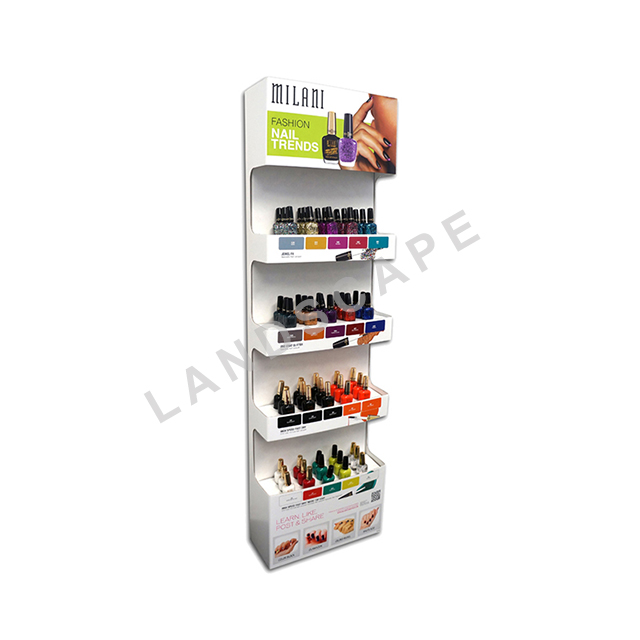 Nach maß papier nagellack display regal/well karton ständer für nagellack
