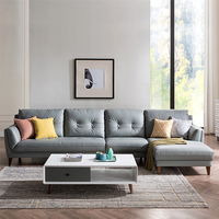 living room sectional funiture modern gery genuine leather sofa set from derucci