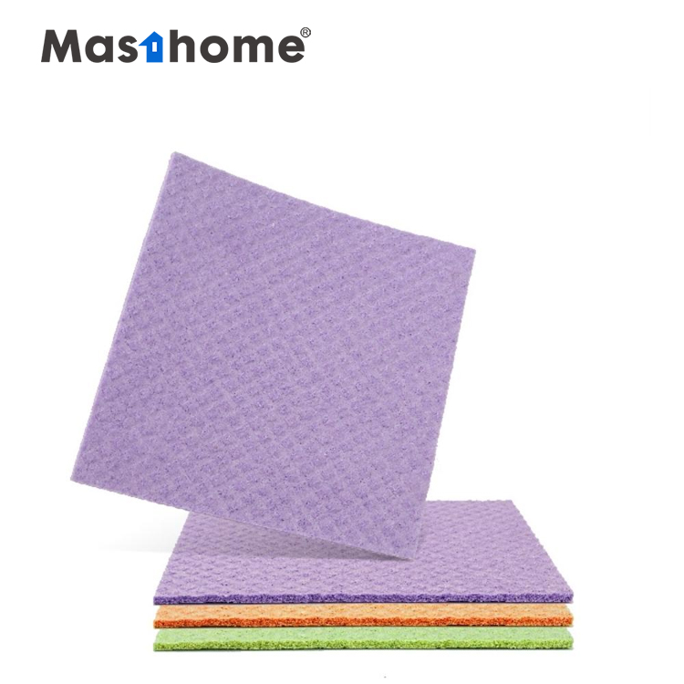 Masthome Colorful durable reusable cellulose Cloth Cleaning Sponge for floor bathroom kitchen furniture,cellulose sponge cloth