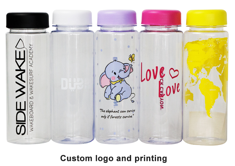 Custom logo printing my bottle 500ml plastic water bottle for shaker