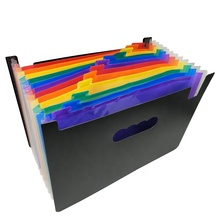 12 zakken Uitbreiden Bestanden Map A4 Expandable File Organizer Draagbare Accordeon <span class=keywords><strong>Bestandsmap</strong></span> Hoge Capaciteit Multicolour Stand
