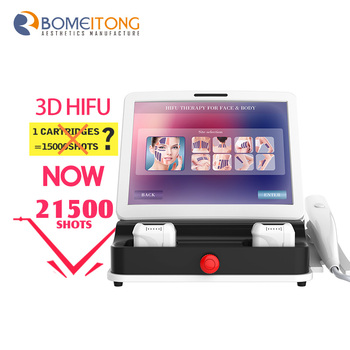 Portable 3d hifu machine korea 10 lines 11 lines 5 cartridges
