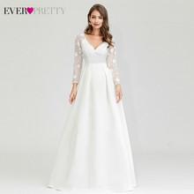 Женское шифоновое платье Ever, длинное пляжное платье с треугольным вырезом и расширяющимся рукавом, модель 2020 года, EP09890WH(Китай)