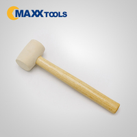 High quality White head rubber mallet,wood handle hammer