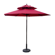 Groothandel chinese dubbele laag <span class=keywords><strong>outdoor</strong></span> wit houten strand tuin parasol patio <span class=keywords><strong>paraplu</strong></span>