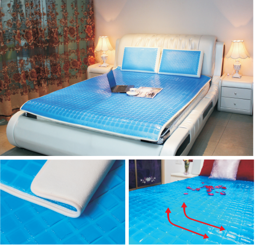 Saien 工場格安価格 sleepwell マットレスパッド、夏冷却ゲルマットレストッパー。、医療用ゲルマットレスパッド