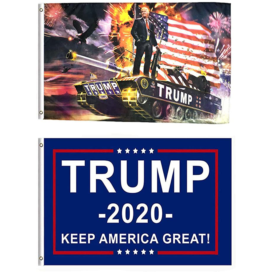 3x5 customize logo american wholesale garden trump banner usa national flag polyester 2020 custom printing