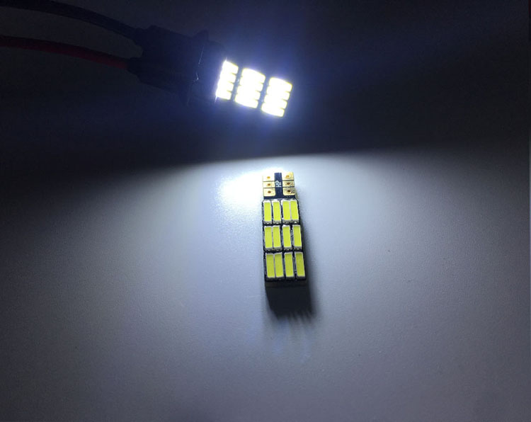 Canbus bright T10 7020 12SMD Error free width license plate light reading lamp for auto car