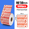 90x50mm, 1000 Uds., sello