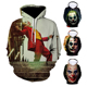 Joker Hoodie Unisex Pullover Sport Oversized Sublimation Gym Blank Anime Men Gym Camo 3d Logo Men Hoodie Joker