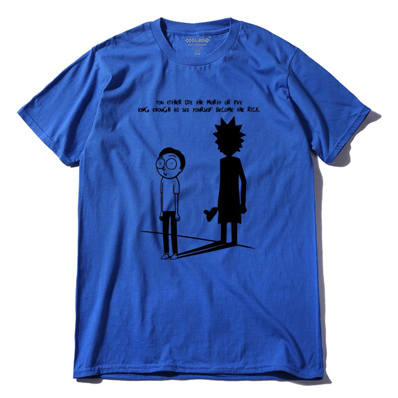 OEM graphique t-shirt Rick et morty logo t-shirt