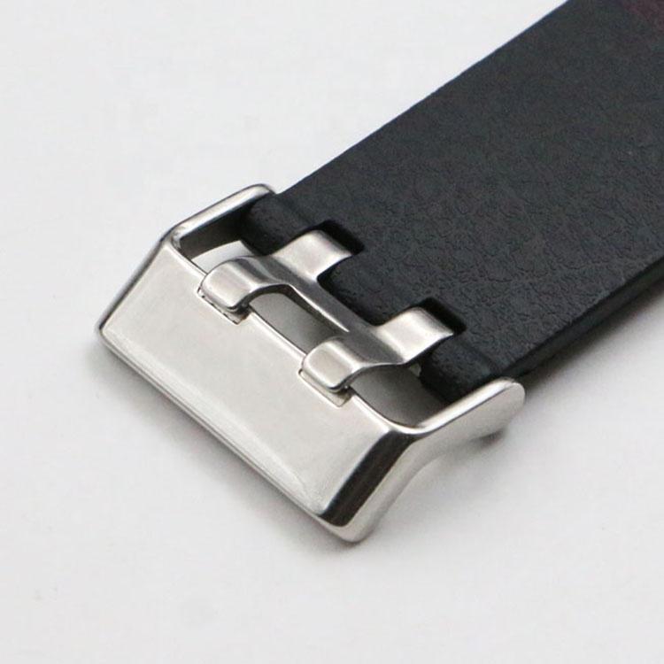 Peças de moda relógio de aço inoxidável 304 milímetros faixas de relógio de silicone esporte relógio inteligente fivela para 22