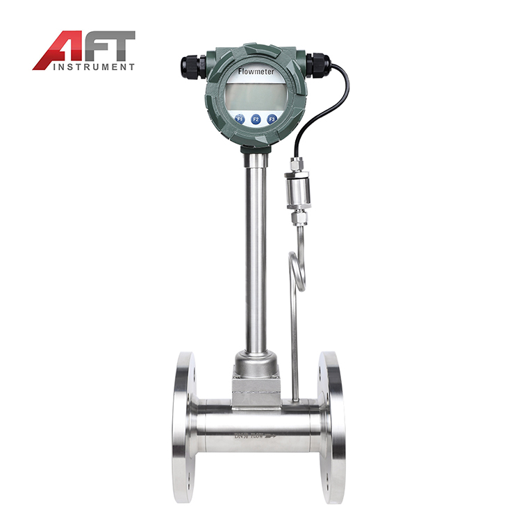 high temperature flange connection 250C vortex air steam flow totalizer