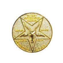 Satanic Lucifer Morning Star Coin, для костюмированной вечеринки, из сплава металла, для косплея(Китай)