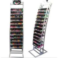 Floor Standing Customized Metal Display Stands Nail Polish Rack for Store