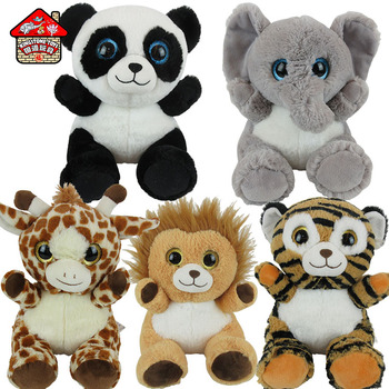 Mini Tiger/ Giraffe /Lion /Elephant Stuffed Forest Animal Toys TY Plush Toy With Big Eyes