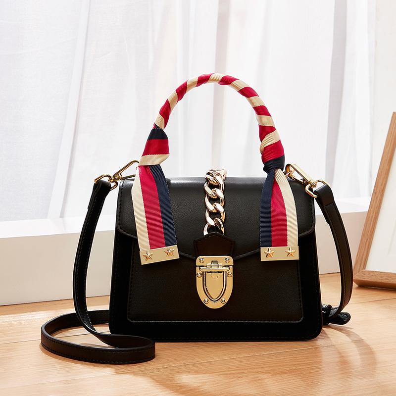 แฟชั่นยอดนิยม collision สีหญิงกระเป๋าถือหนังแท้แบรนด์หรูออกแบบกระเป๋า