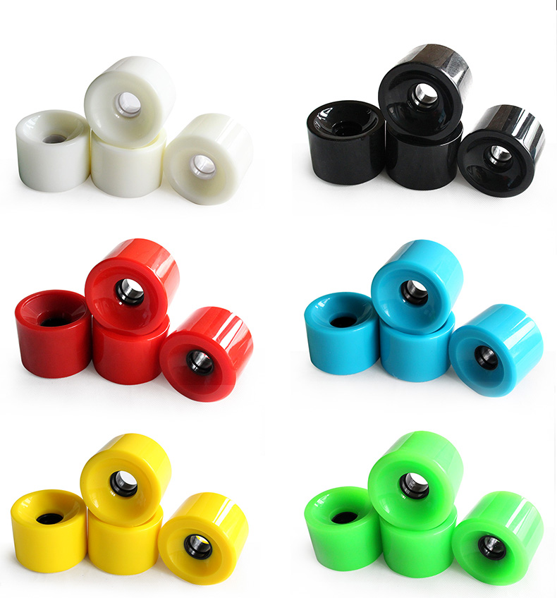 Wholesale Urethane 70*51mm High Strength Multicolor Longboard Skateboard Wheels