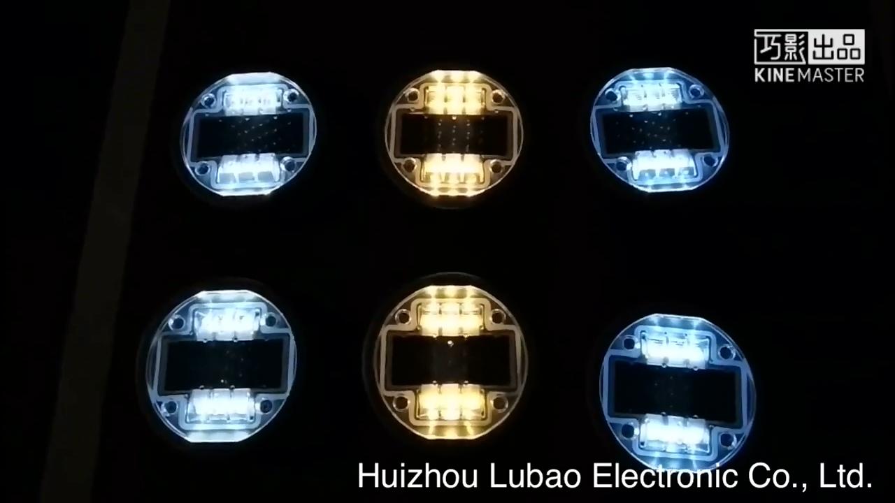 Matériel En Aluminium Durable Double côtés clignotant goujon de route à LED Solaire