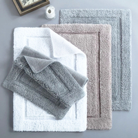 bathroom mat set 3 piece bath rug sets toilet floor anti-slip mat