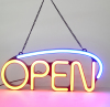 Led open neon signage flex letter custom led neon sign