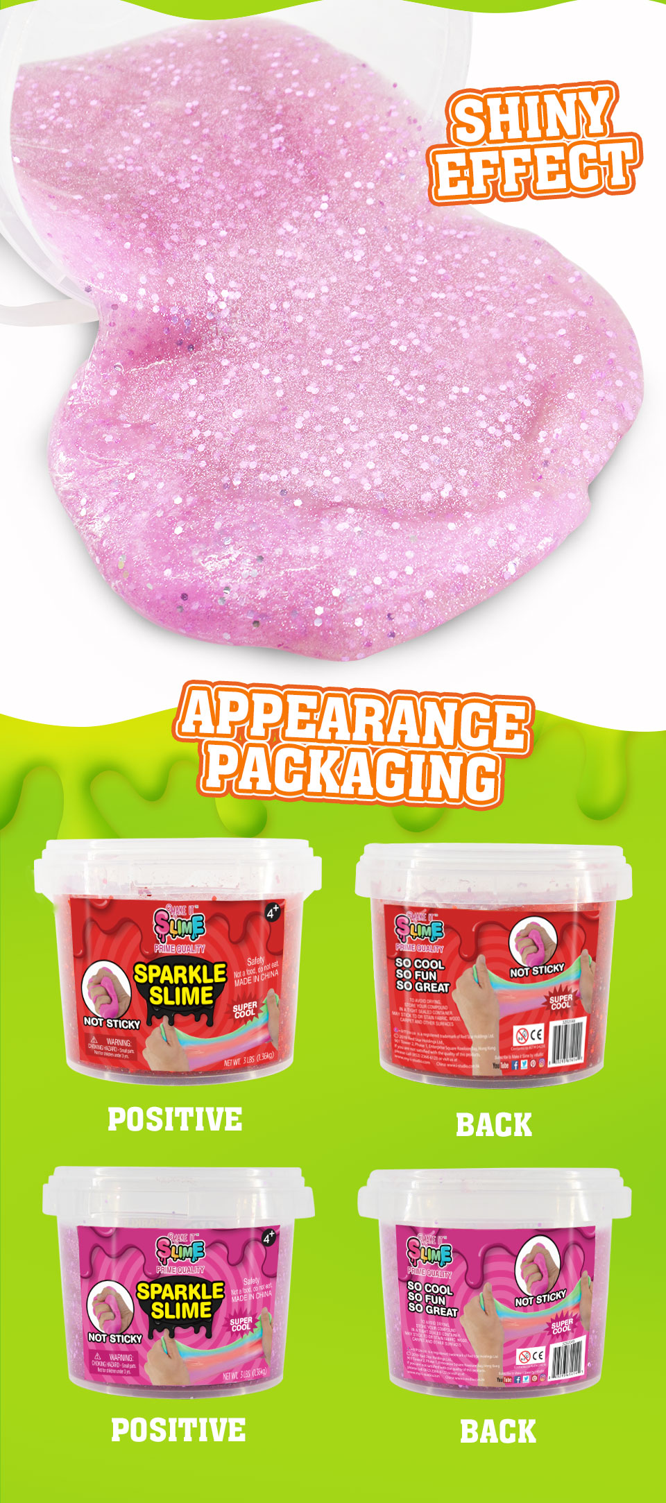 Mini Slime Glitter Jelly Gila Slime Kit