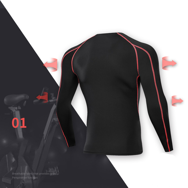 Custom Men's Quick Dry Under Base Layer Compression Sports Tops Long Sleeve T-Shirt