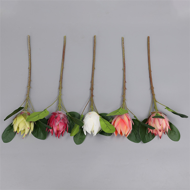 Wholesale wedding decorative big silk artificial king protea flower