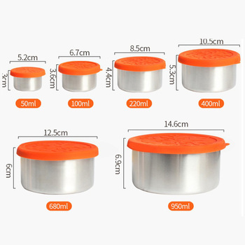 Galore stainless steel leakproof food lunch box container with lid silicone